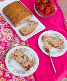 So far it hasn't been too hot (thankfully! I'm totally a temperature wuss) , and I've already gotten to see some weather! Just Desserts, Delicious Desserts, Dessert Recipes, Yummy Food, Strawberry Bread, Sweet Bread, Coffee Cake, Delish, Sweet Tooth