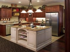 L Shaped Island Kitchen Layout l shaped rustic kitchen with triangle island with seating