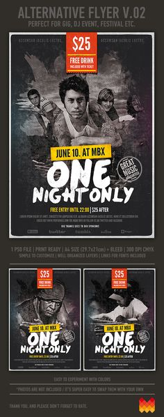 Alternative Music Flyer  ( Hi Res PSD ) by moodboy , via Behance
