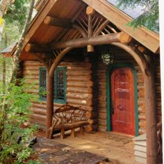 Breathtaking Ideas to make your beautiful log cabin home in the mountains or next to a lake. A necessity to escape from our fast pace life. Log Cabin Living, Log Cabin Homes, Log Cabins, Mountain Homes, Mountain Cabins, Little Cabin, Cabins And Cottages, Cozy Cabin, Le Far West