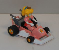 "2005 Princess Peach 3"" Pull-Back Mario Kart Action Figure Super Mario Brothers"
