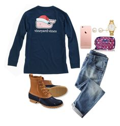"""Untitled #95"" by valerienwashington on Polyvore featuring Vineyard Vines, L.L.Bean, Honora, Vera Bradley and Kate Spade"