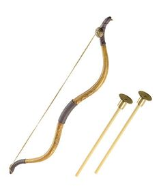 Take a look at this Gold Brace Bow & Arrow Set by Disney on #zulily today!