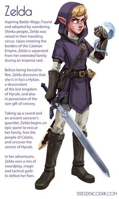 Step aside, Link! Zelda becomes the hero in artist's concept