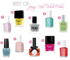 Best of Spring Nail Polish Colors