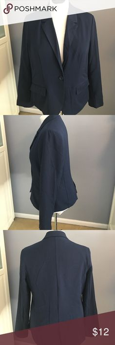 Navy Blue Plus Blazer Brand new never worn Blazer. Purchased from forever 21 plus. One button closure. smoke free home Ambiance Apparel Jackets & Coats Blazers