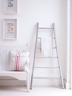 Antique towel ladder from Achica Living blog