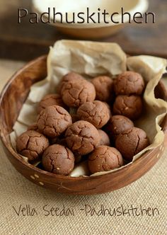 A delicious Indian festival snack called Vella Seedai prepared with rice flour and jaggery