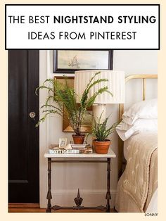 Nightstand Styling Ideas from Pinterest. Bedside tablesNightstandMonday ... & 125 best Bedside Table Ideas images on Pinterest in 2018 | Powder ...