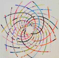 In a Spiral  An Homage to Haruki Murakami  Original collage of Murakami book cover images by Cheryl Sorg, $150.00