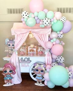 Love love love this 😍  with  ・・・ Mia's LOL Surprise Party! Dessert Cart designed by  5th Birthday Party Ideas, Spa Birthday Parties, Birthday Party Decorations, Girl Birthday, Paris Birthday, Bachelorette Parties, Turtle Birthday, Turtle Party, Carnival Birthday