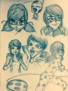 Ladybug Sketches by TheTrueXIVMember.deviantart.com on @DeviantArt