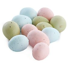 Factory Direct Craft Package of 36 Pastel Spring Plastic and Styrofoam Speckled Bird Eggs for Baby Showers, Weddings Accents or Spring and Easter Decorations