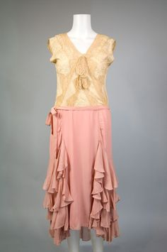 1920s Handkerchief Hem Dress