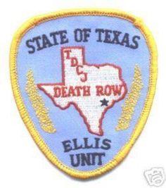 TDCJ Texas Death Row Ellis Unit Patch.Home of the original unit in Huntsville