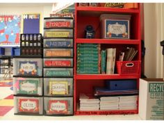Communal classroom supplies organization