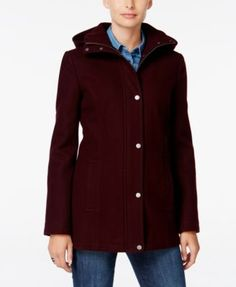 Tommy Hilfiger Hooded Peacoat, Only at Macy's | macys.com