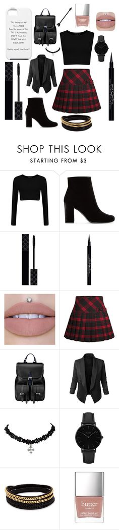 """""""Mine"""" by mineangel ❤ liked on Polyvore featuring Yves Saint Laurent, Gucci, Givenchy, Aspinal of London, Jupe de Abby, CLUSE, Vita Fede and Butter London"""