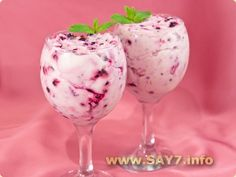 Simple dessert with mascarpone and blueberries # food recipes cooking Sweet Desserts, Easy Desserts, Delicious Desserts, Chocolate Snacks, Chocolate Muffins, Ice Cream Bowl, Cream Bowls, Blueberry Recipes, Cooking Together