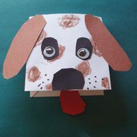 dog craft..from enevelope, much easier for small children to manipulate than a…