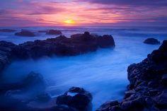 Yachats Sunset by Bill Hubbard - Pixdaus