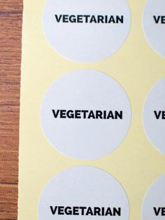 vegetarian stickers white paper laminate by ctdscraftsupply Food Stickers, White Paper, Vegetarian, Handmade Gifts, Etsy, Kid Craft Gifts, Craft Gifts, Diy Gifts, Hand Made Gifts