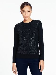 fluffy wool sequin sweater - kate spade new york