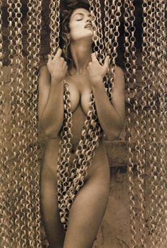 Pirelli Calendar, 1994 Photographer: Herb Ritts Model: Cindy Crawford