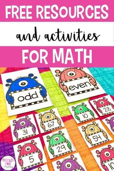 Try these fun and engaging math activities with your kindergarten or first grade students. Some of the activities target math topics such as number sense. These are FREE low-prep activities and games, which makes then perfect for using in your math centers!