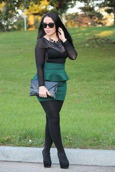 Green Hunter Glam makeup city pop