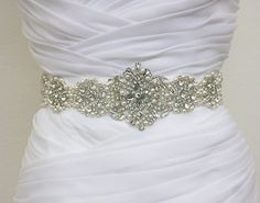COURTNEY - Vintage Inspired Crystals And Pearls Bridal Sash, Rhinestone Bridal Belt, Wedding Beaded Sash, Wedding Belts