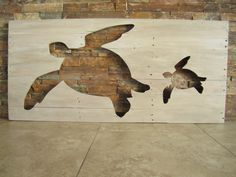 Distressed Pallet Wooden Sea Turtle Silhouette Barn Wood Finish Wall Art by BBSIGNSDESIGNS on Etsy https://www.etsy.com/listing/247489273/distressed-pallet-wooden-sea-turtle