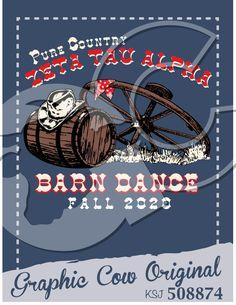 Barn Dance barrel cowboy hat wagon wheel country #grafcow