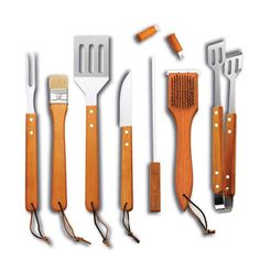 Clean Grill, Bbq Grill, Barbecue, Grilling, Bbq Skewers, Camping Bbq, Outdoor Tools, Steak Knives, Utensil Set