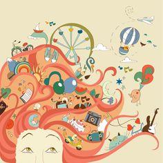 мечта, иллюстрация, девушка, dream