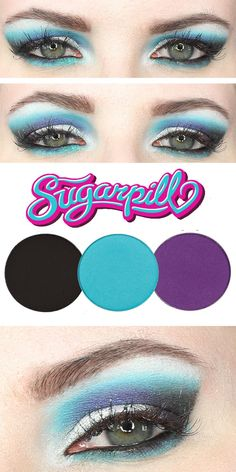 Sugarpill Kim Chi Look, bright colorful makeup for hooded eyes