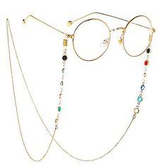 c827505233b Eyeglass Chains sunglasses Neck strap Cord Beaded reading glasses chain  Holder Lanyards Eyewear Retainer for women