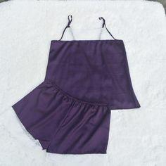 Satin Pajamas Set Lace Nightgowns Comfy Sleepwear Pretty Nighties Artificial Silk Camisole Short Sets
