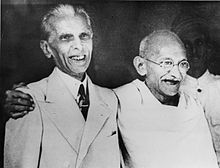 Muhammad Ali Jinnah with Ghandi 1944 Wikipedia, the free encyclopedia