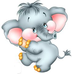 Cute Cartoon Elephant Free PNG Picture