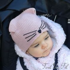 Bonnet Chat #crochet #hat #child