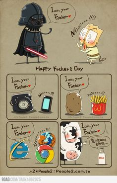 I am your father.  translation:milk:bullshit you're my mom.