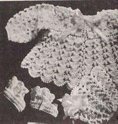 Alice Fowler crochet Baby Set 1178