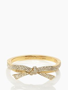 perfect finishing touch: pave bow bangle by kate spade new york. (november 2013)
