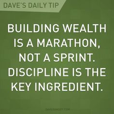 building wealth is a marathon