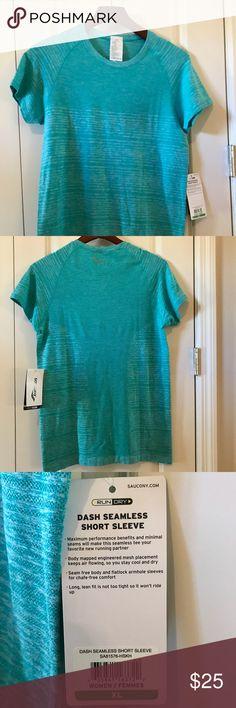 Saucony Dash Seamless Short Sleeve Shirt NWT.  Smoke free home. Saucony Tops Tees - Short Sleeve