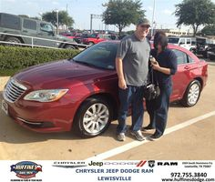 #HappyAnniversary to Cheistina Dobbs on your 2013 #Chrysler #200 from Ron Sherrill at Huffines Chrysler Jeep Dodge Ram Lewisville!