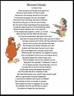 This poem teaches kids to add details to their writing. You can copy it for free.