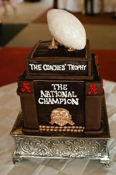 Coaches' Trophy Groom Cake