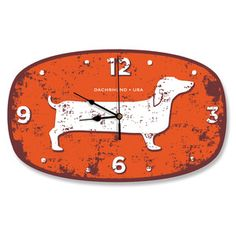 Dachshund USA Wall Clock now featured on Fab.